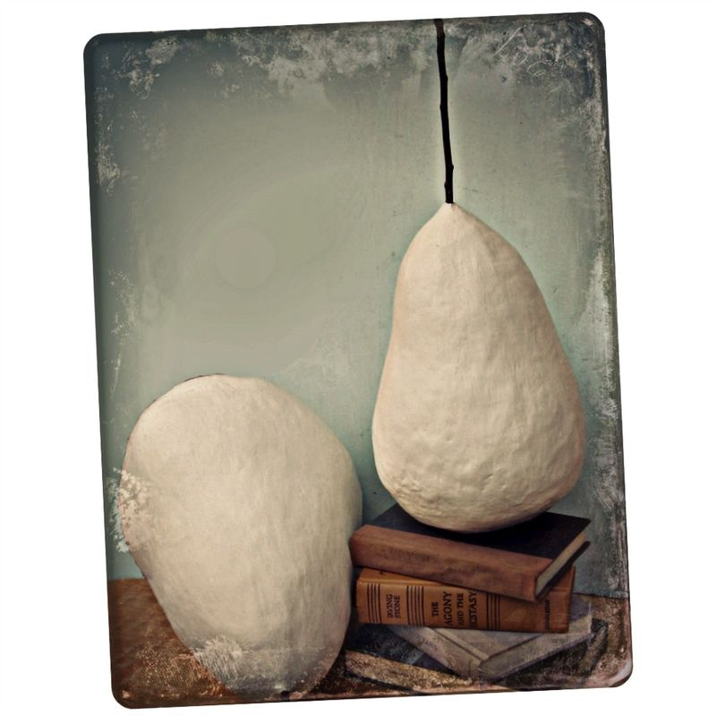 Giant White Minimalist Abstract Paper Mache Pear Sculptures MADE to ORDER - product images  of