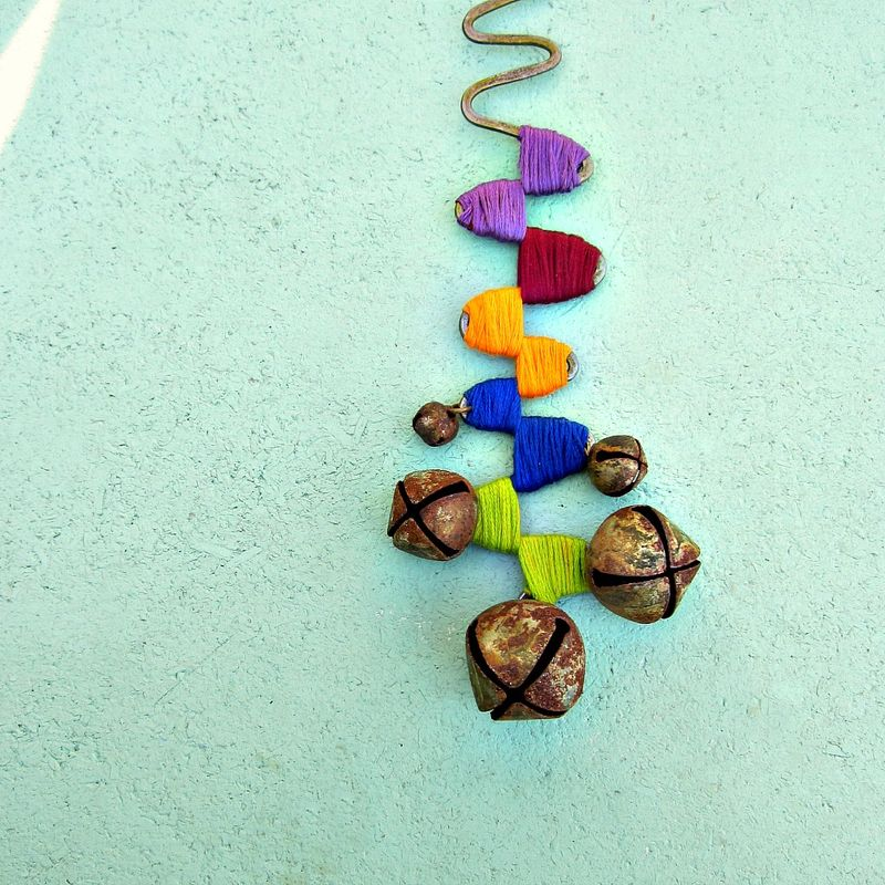 Colorful Decorative Rustic Wire and Bell Decor Accent: Trail - product images  of