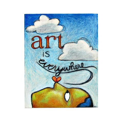 Drawing,,Original,Oil,Pastel,Art,with,Words,Art,is,Everywhere,original oil pastel drawing, art is everywhere drawing, ready to frame pastel art, colorful oil pastel drawing with words, original pastel drawing by Renee Parker