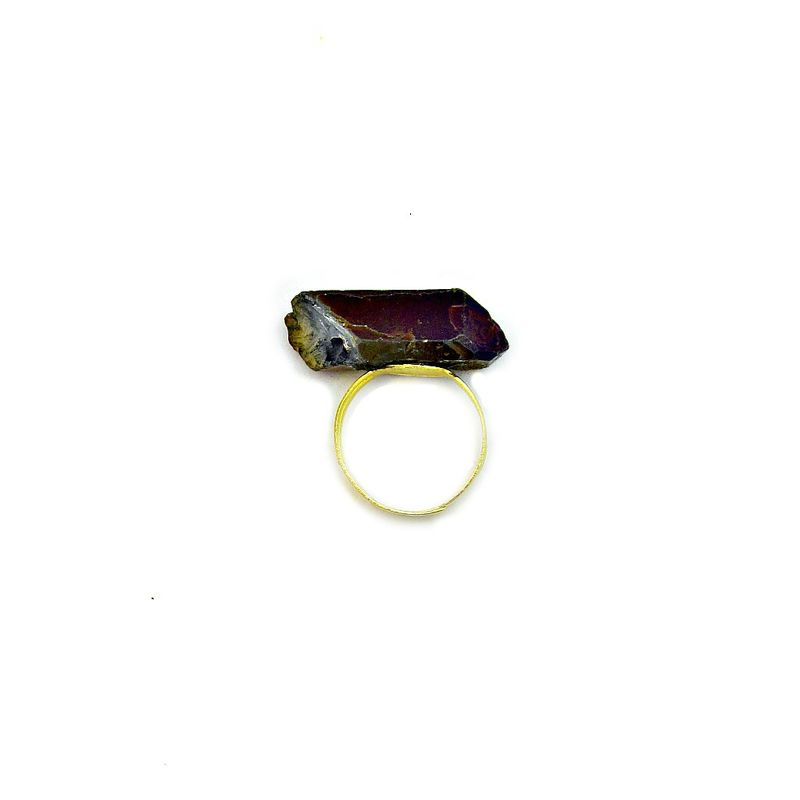 Ring, Adjustable Faceted Purple Crystal: Fling - product images  of