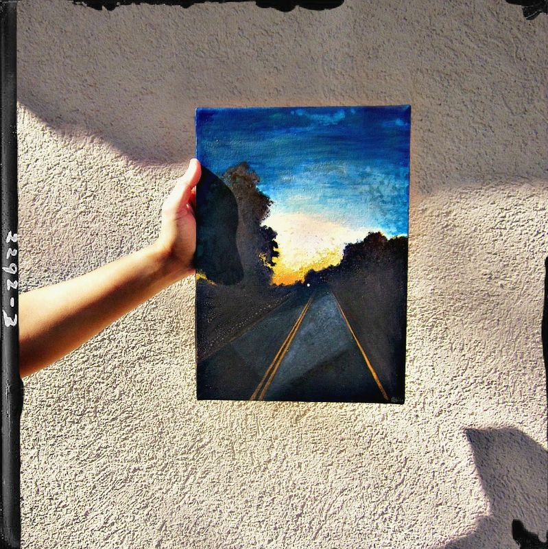 Painting on Canvas, Original 10 x 14 Watercolor Landscape: 212 - product images  of