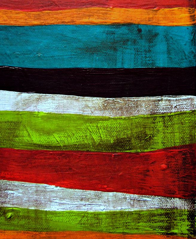 Original Abstract Acrylic Stripes Painting on Canvas: The Prayer - product images  of