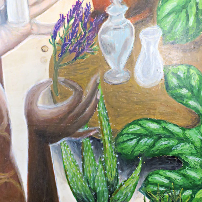 Drawing, Large Original Oil Pastel Art on Wood: the Natural - product images  of