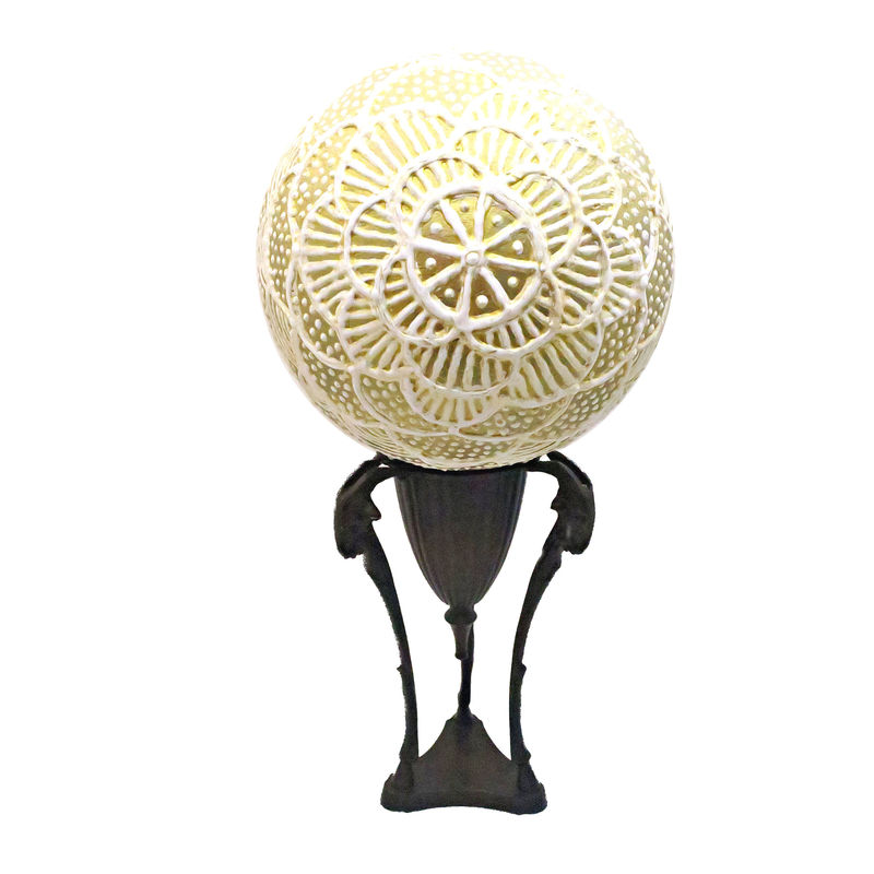 Decor Ball, Large Decorative Paper Mache Art on Stand: Qatar - product images  of