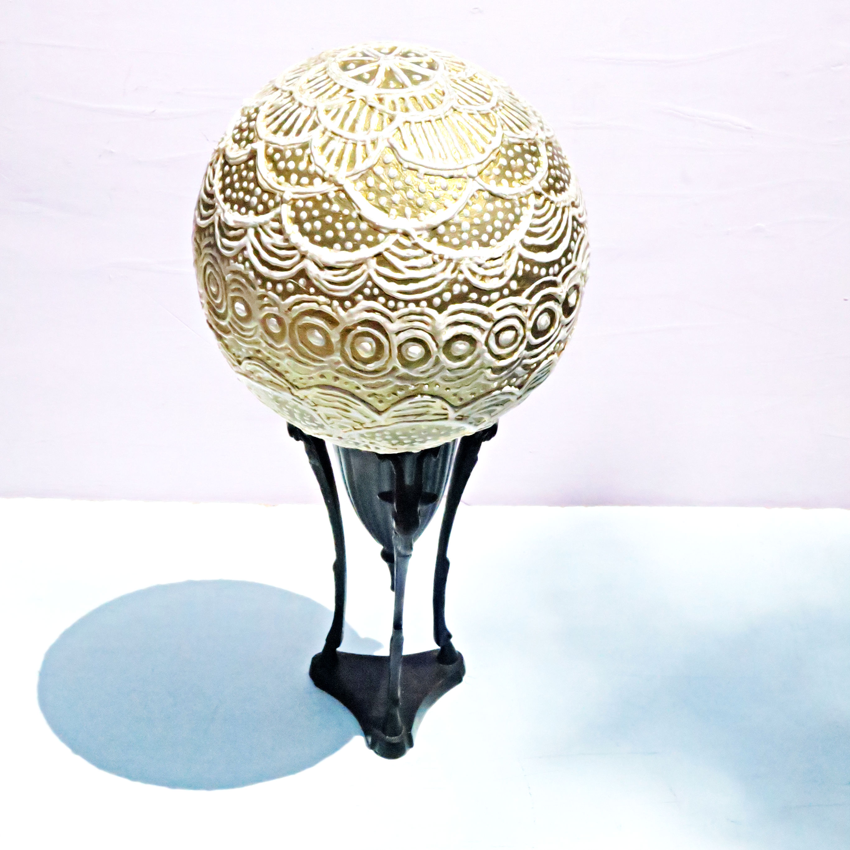 decor ball on stand