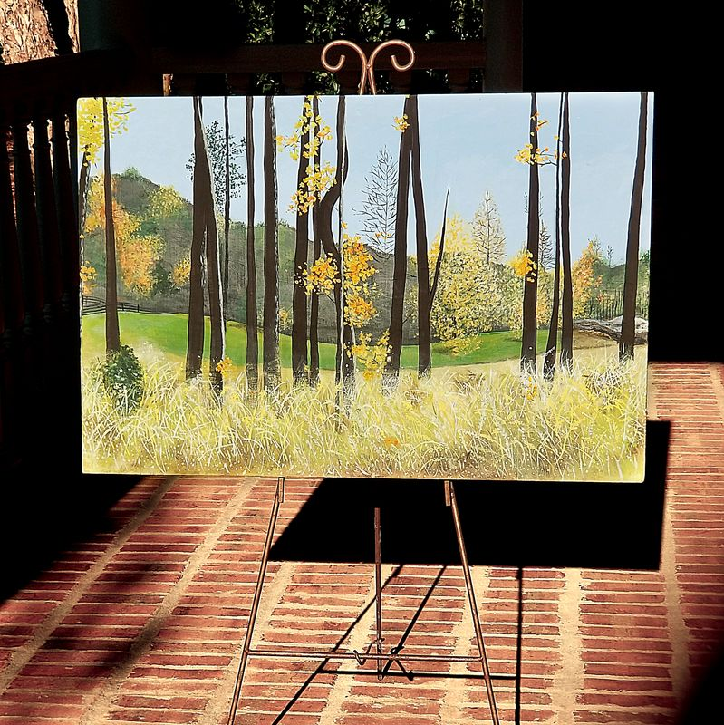 Autumn Landscape Painting on Wood Panel: Serenbe - product images  of