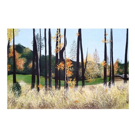 Autumn,Landscape,Painting,on,Wood,Panel:,Serenbe,painting on wood, autumn art painting, autumn trees painting, fall landscape painting on wood, autumn leaves art, fall trees original art, serenbe