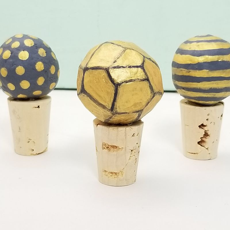 Paper Mache Bead Bottle Stoppers - product images  of
