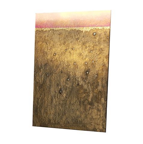 Original,Abstract,Acrylic,Painting,on,Wood,with,Gold,Leaf:,New,Dawn,abstract acrylic painting on wood, textured painting on wood panel, one of a kind abstract painting, winter horizon on wood, acrylic and gold leaf painting