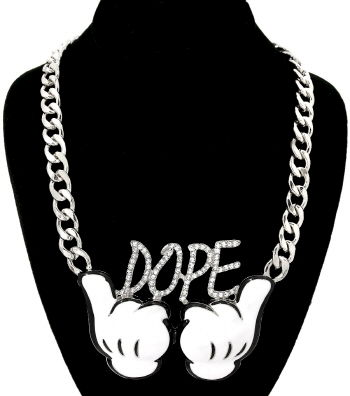 Silver,-,Dope,Necklace,dope necklace, hands necklace, dope hands necklace