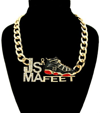 Gold,-,Red,J's,on,Ma,Feet,Necklace,jordan necklace, j's on ma feet necklace, jordan sneaker necklace