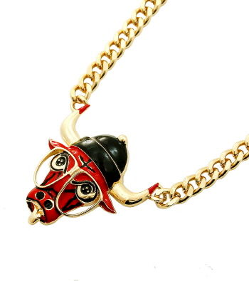 Bull w/ Glasses Necklace - product images  of
