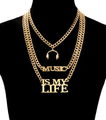 Gold,Music,Is,My,Life,Necklace,music is my life necklace, gold necklace, music lover necklace, music necklace,
