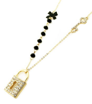 Lock and Key Charm Necklace Set - product images  of