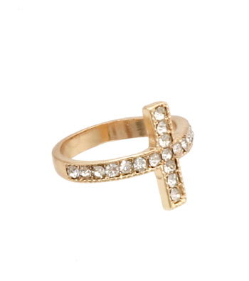 Gold,Rhinestone,Cross,Midi,Ring,fashion ring, stretch ring, women's fashion ring, cocktail ring, midi ring set, gold midi rings