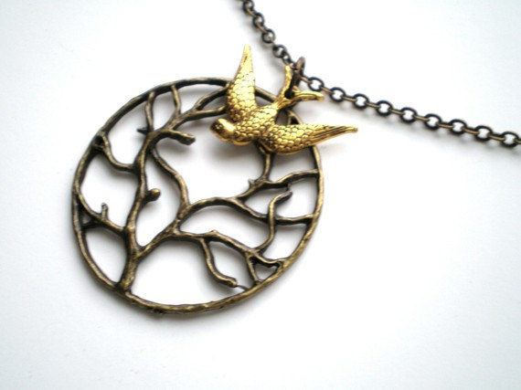 Branches of Life Swallow Necklace - product images  of