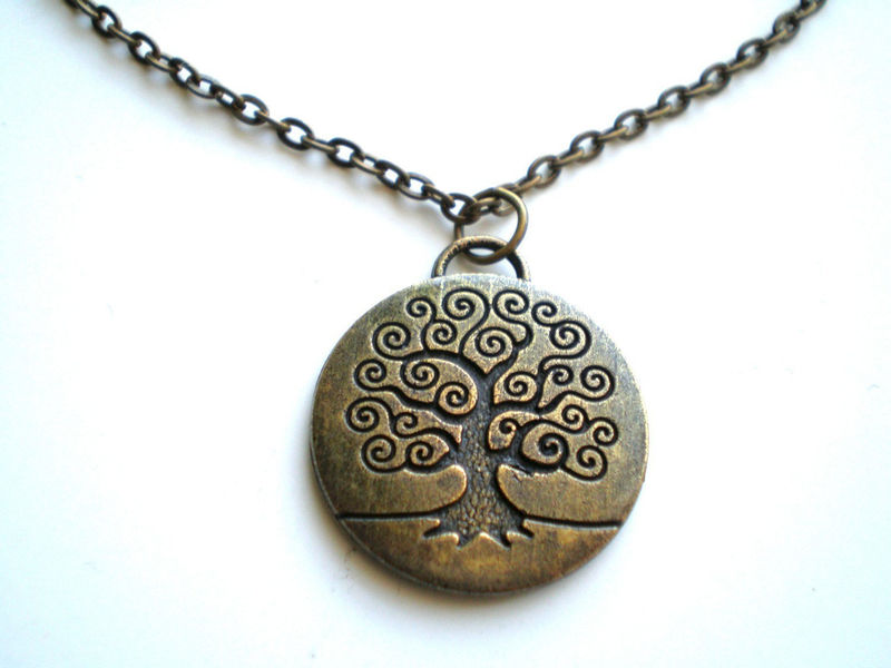 Tree of Life Antique Brass Necklace - product images  of