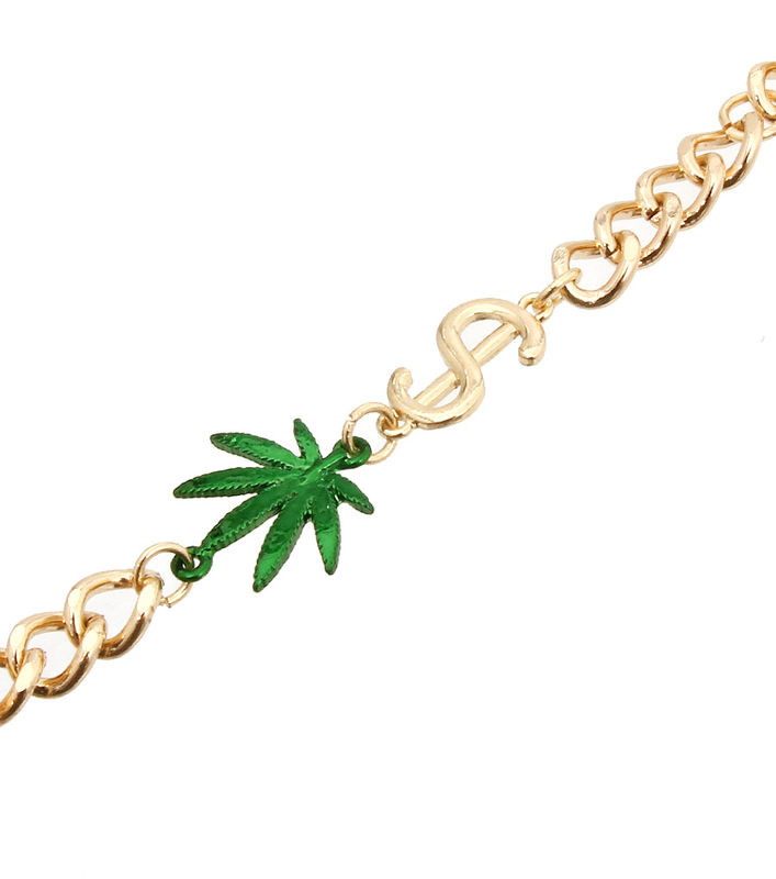 Gold Marijuana  Chain - product images  of
