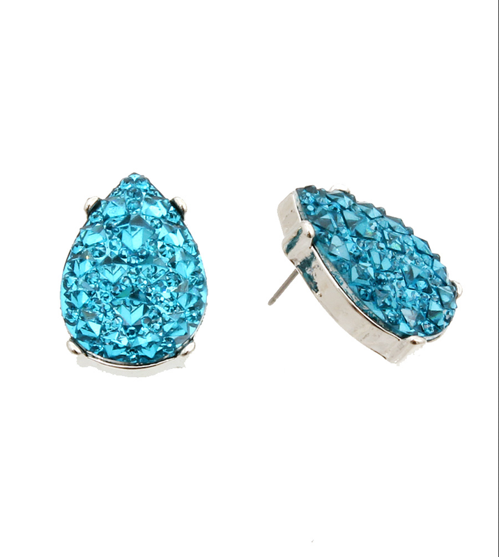 Aqua Stone Earrings - product image