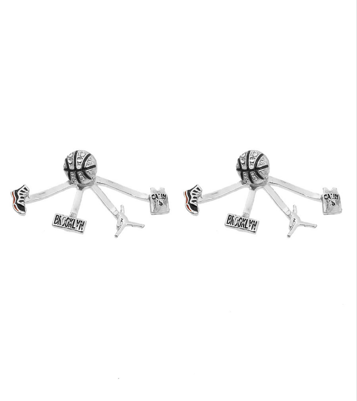 Silver Basketball Earrings - product images  of