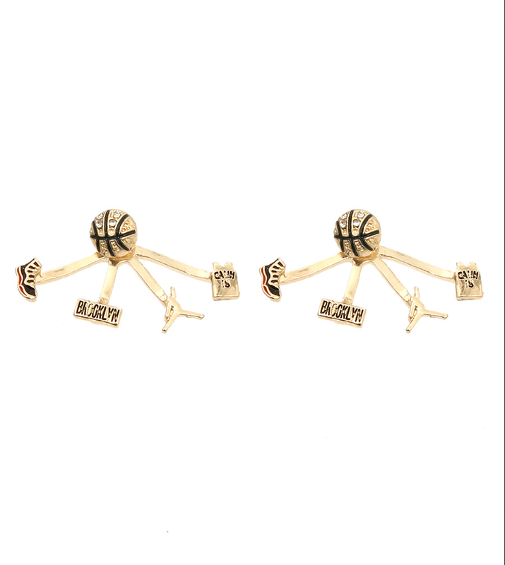 Gold Basketball Earrings - product images  of