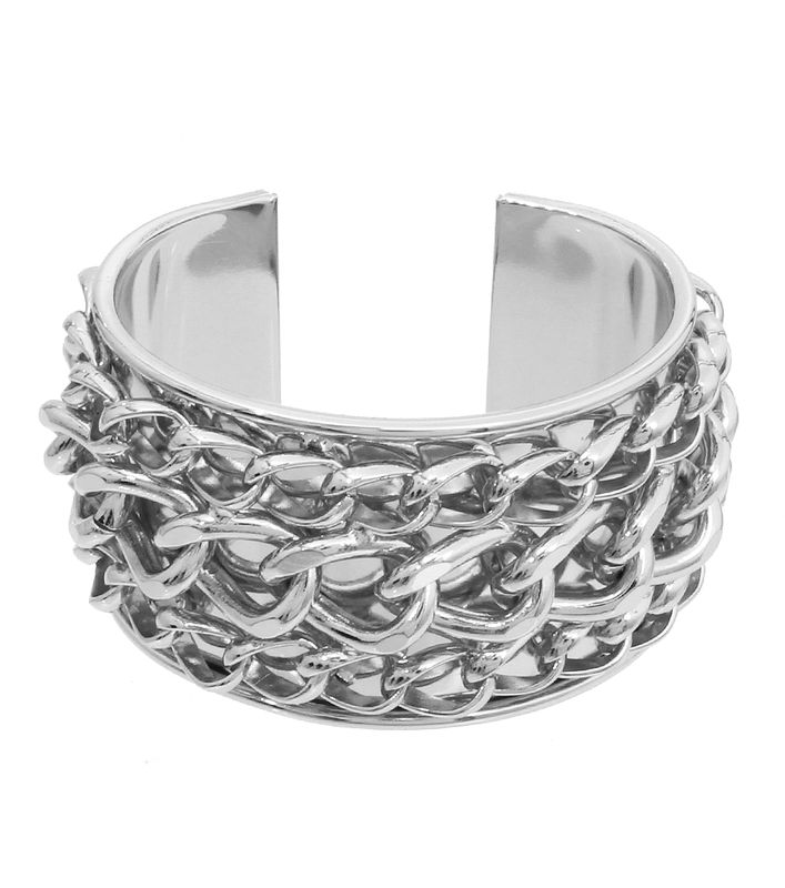 Silver Three Chain Cuff Bracelet - product images  of
