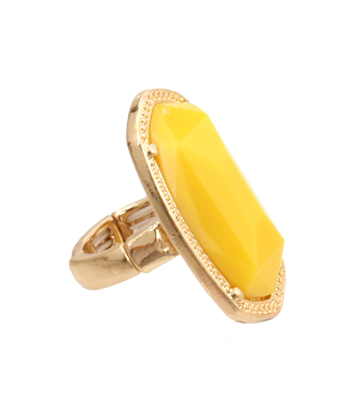 Yellow Bead Stretch Ring - product images  of