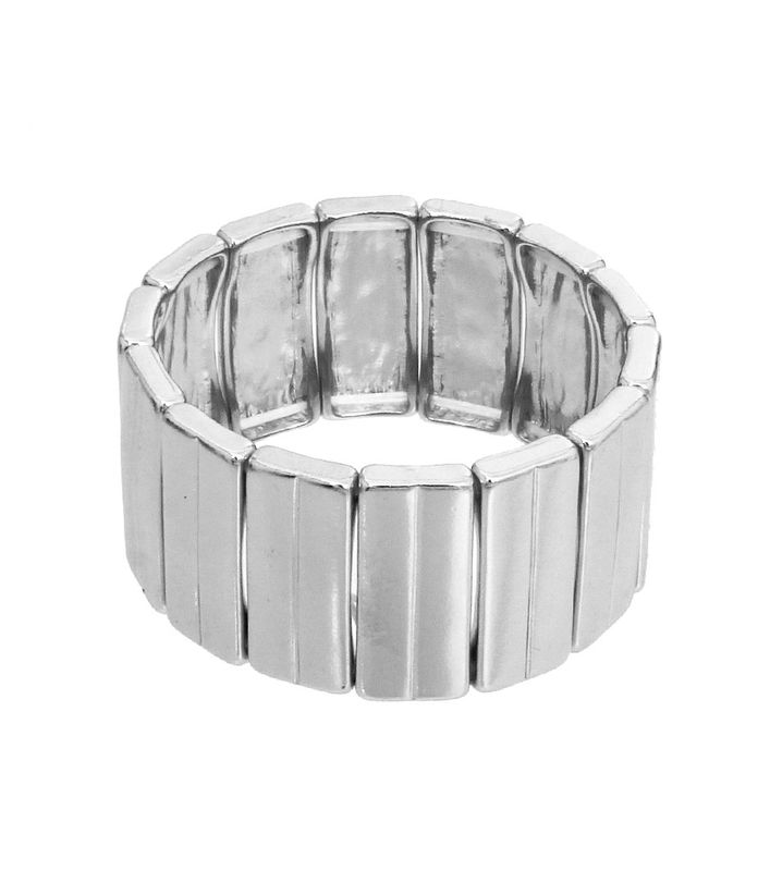 Silver Retangle Stetch Bracelet - product images  of