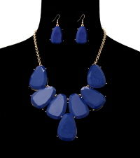 Blue Jasmine Necklace and Earrings Set - product images  of