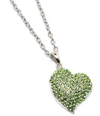 Green,Heart,Necklace