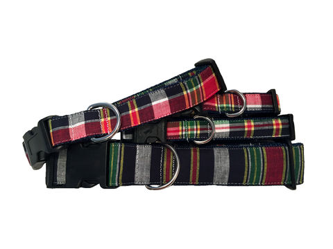 The,Preppy,Scottish,Tartan,Dog,Collar,lilly pulitzer, preppy, unique, fun, bright, feminine, masculine, stylish