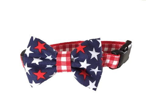 Americana,Red,White,Blue,Check,Plaid,Dog,Collar,lilly pulitzer, preppy, unique, fun, bright, feminine, masculine, stylish