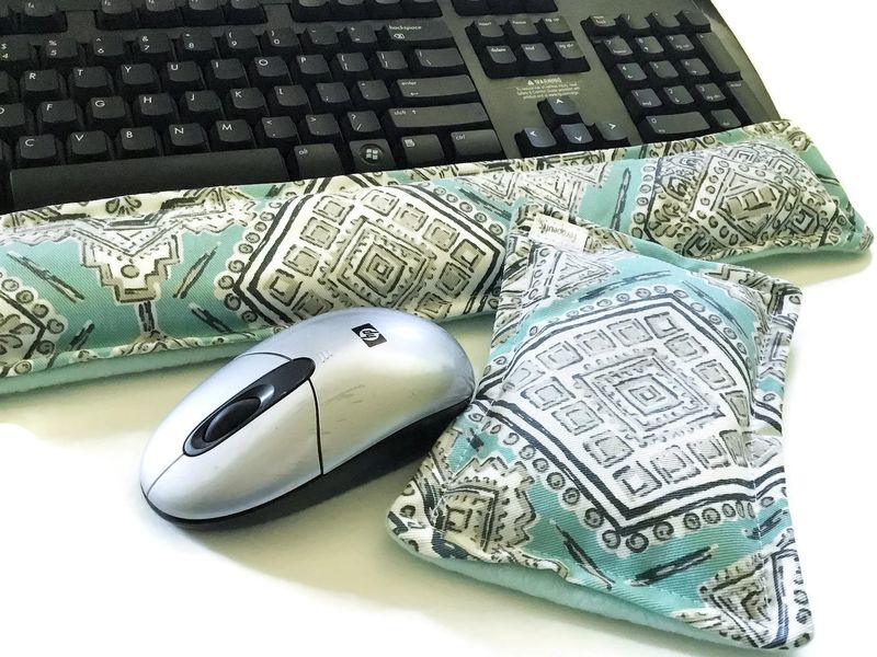 Keyboard Wrist Rest, Wrist Supports for Computer Keyboard Rest, Wrist Heating Pad Microwaveable - product images  of