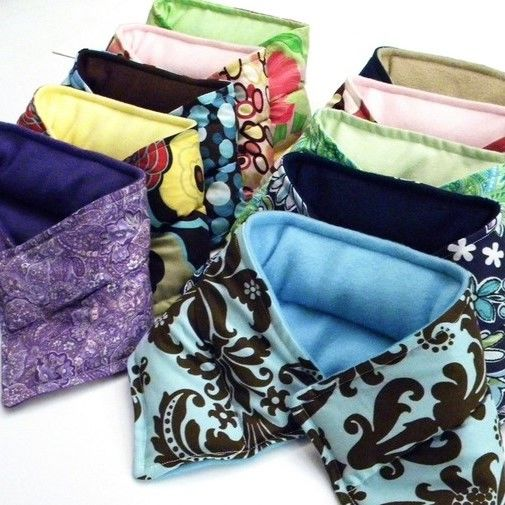Ten Microwave Heating Pads, Heat Pack Neck Wraps for Bulk Gifts, Wholesale - product images  of
