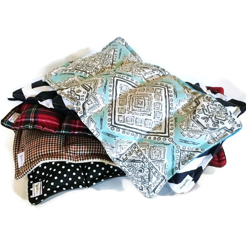Five Microwave Heating Pads, Medium Heat Packs Hot Cold Packs for Bulk Gifts, Wholesale - product images  of
