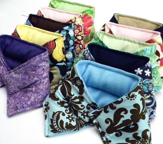 Quantity Hot Cold Pack Neck Wraps, Wholesale Microwave Heat Pads, Large Quantity Heat Packs for Gifts, Resale, Events - product images  of