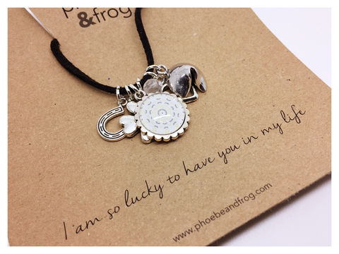 For,someone,special.,friend, necklace, personalised, lucky, card, sentiments, special, charms