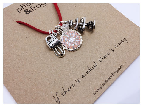 For,those,who,love,to,bake.,friend, necklace, personalised, bake, card, sentiments, baking, charmS