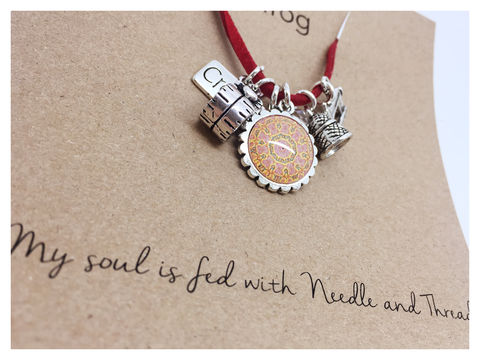 For,those,who,love,to,sew.,friend, necklace, personalised, card, sentiments, sew, create, charms