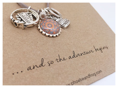 For,a,lovely,bride,to,be.,friend, necklace, personalised, card, sentiments, charms, wedding, bride