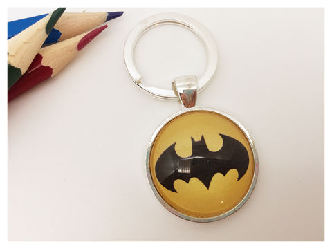 Batman,Keyring,keyring, silver, boy's, batman