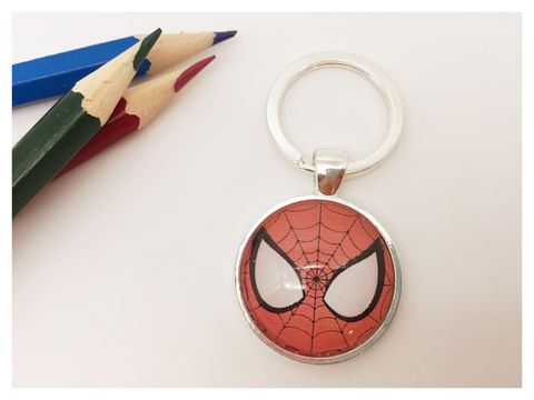 Spiderman,Keyring,keyring, silver, boy's, spiderman