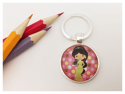 Princess,Keyring,keyring, silver, girl, princess