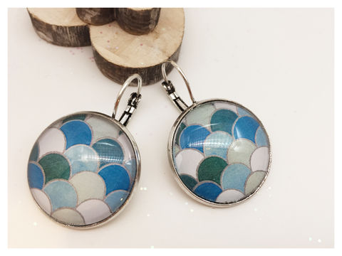Modern,Earrings,earrings, modern, contemporary, blue, geometric