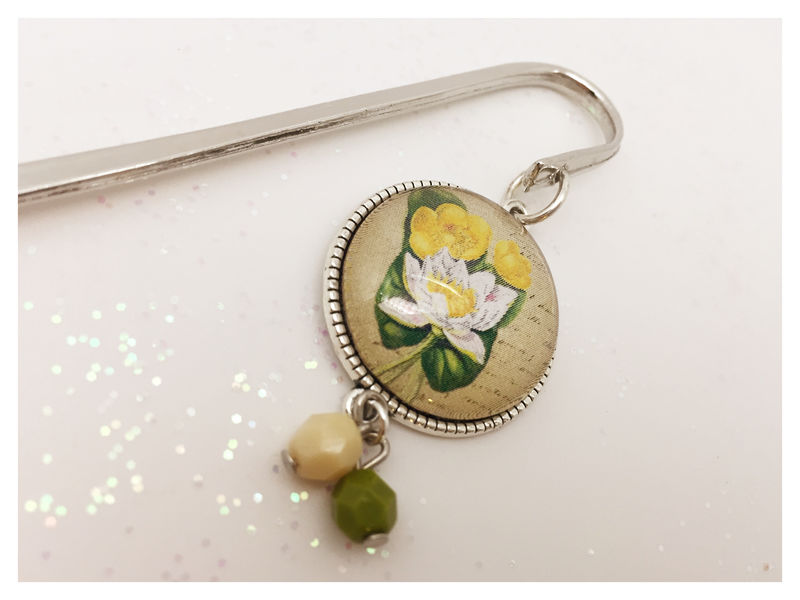 Vintage Style Flower Bookmark - product images  of