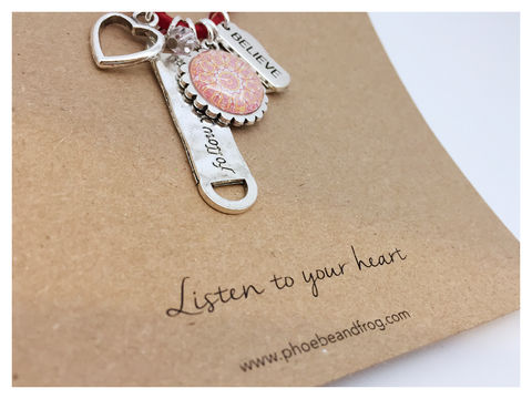 For,someone,special.,friend, necklace, personalised, special, card, sentiment, charms, heart, love