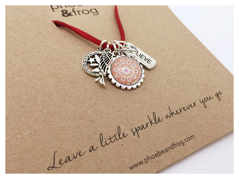 For,a,someone,special.,special, necklace, personalised, special, card, sentiment, charms, sparkle, fairy