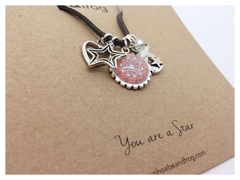 For,someone,special.,star, necklace, personalised, special, card, sentiment, charms, friends