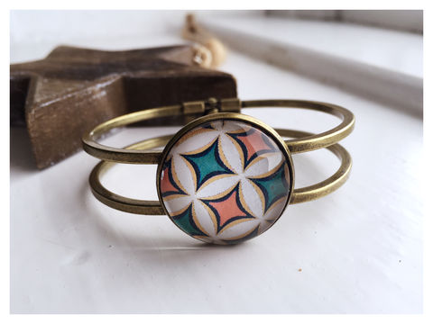 Retro,Cabochon,Bangle,bangle, retro, bronze,