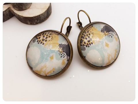 Watercolour,Earrings,earrings, modern, contemporary, bronze